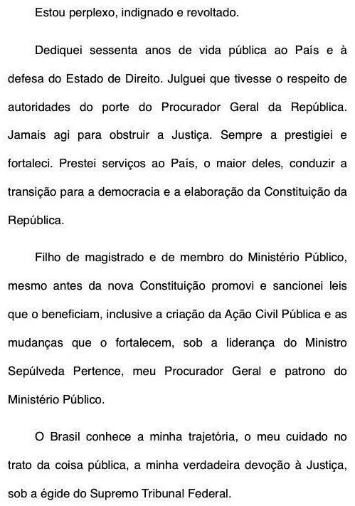 Sarney sobre Rodrigo Janot