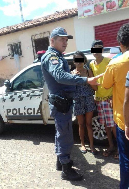 Casal de adolescente preso em Santa Inês