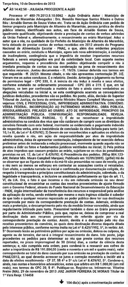 Arnaldo Gomes de Sousa - Altamira do Maranhão