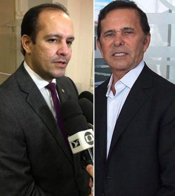 Delegado Max Eduardo e o empresário Barbosa da Dimensão