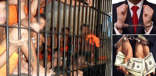 Detentos na cela do Complexo Penitenciário de Pedrinhas; quem tem curso superior não fica