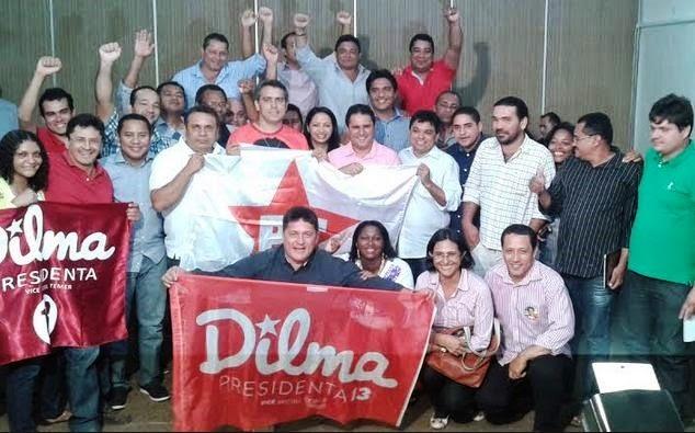 Edivaldo Holanda Júnior com diregentes do PT em São Luís