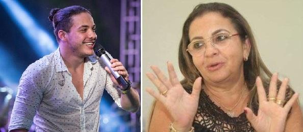Wesley Safadão e a mãe Dona Bill