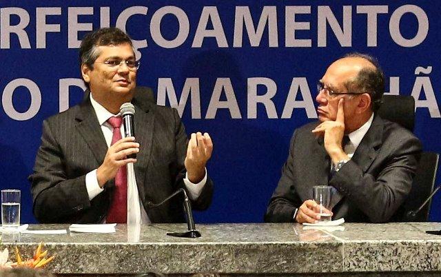 Governador Flávio Dino e o ministro Gilmar Mendes