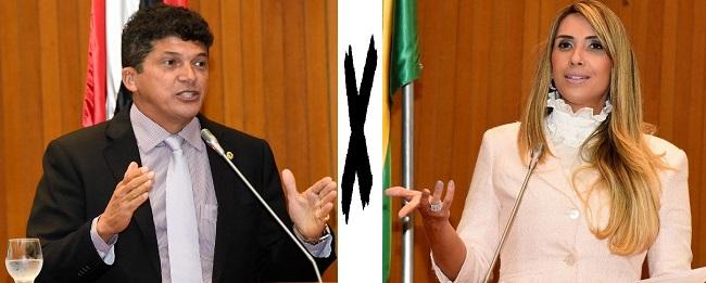 Marcos Caldas e Andrea Murad protagonizam uma baixaria no plenário da Assembleia do MA