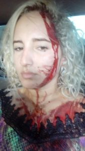Poliana foi agredida por PM reformado em Cajari