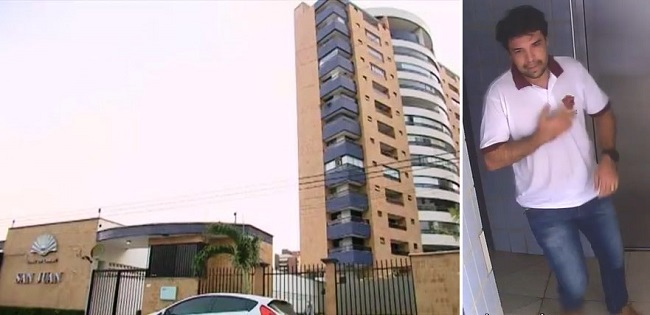 Condomínio de Lucas Porto onde a polícia encontrou suas roupas