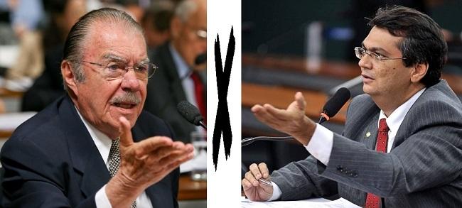Ex-presidente José Sarney e o governador Flávio Dino: inimigos políticos no Maranhão
