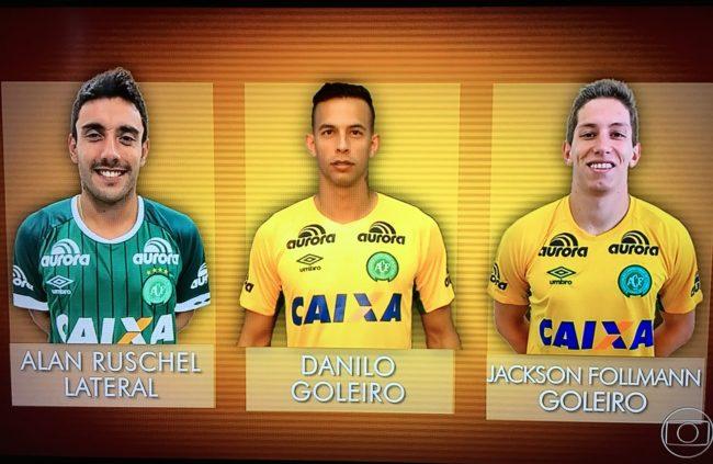 Os três jogadores da Chapecoense que sobreviveram