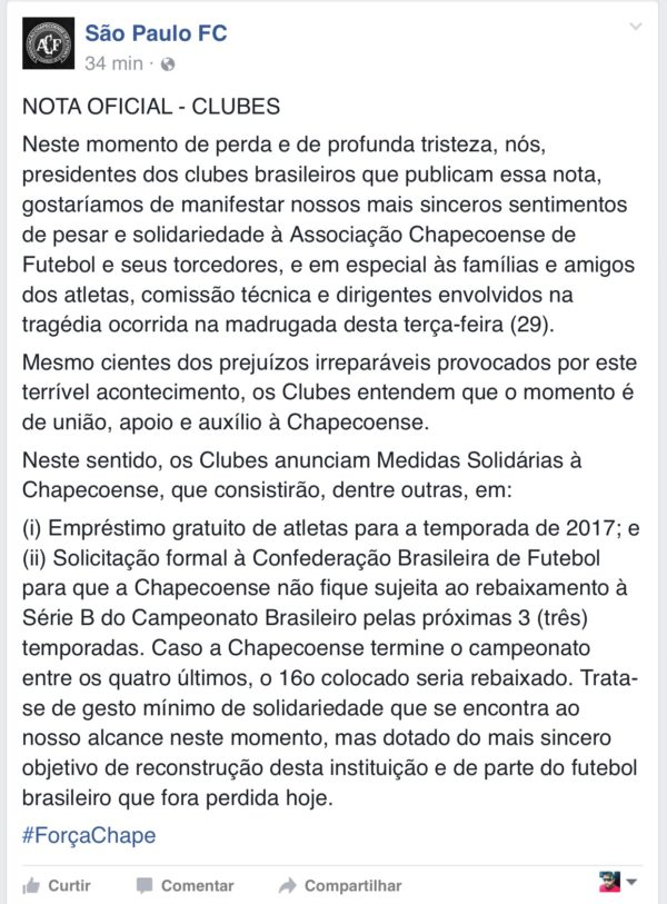 São Paulo - Chapecoense