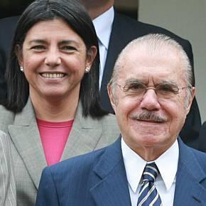 Roseana ao lado do pai, José Sarney
