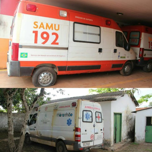 Ambulâncias paradas