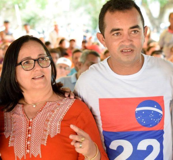 Prefeita Belezinha e o ex-secretário Aluísio Sousa