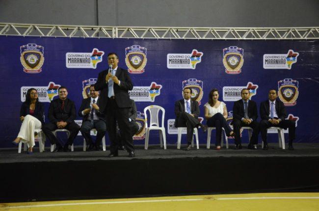 Flávio Dino discursou durante formatura de agentes