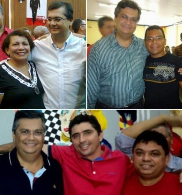 Flávio Dino e os derrotados: Lindalva, Pedro Araújo (foto acima) e Jardel Miranda ao lado de Márcio Jerry