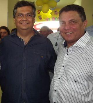 Governador Flávio Dino e o prefeito Tema