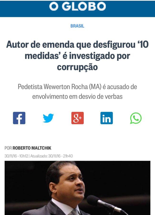 Weverton Rocha - O Globo