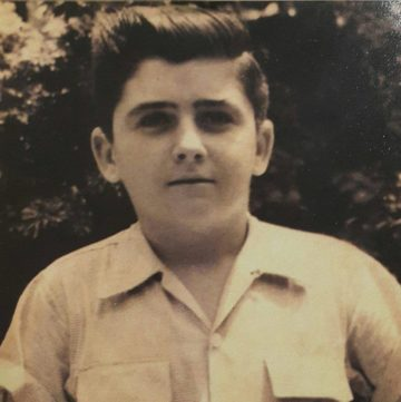 João Castelo quando criança