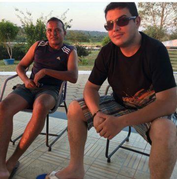 Afrânio Silva ( à esquerda) e Rafael Cunha ( filho do prefeito) são sócios da empresa