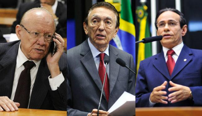 João Alberto, Edson Lobão e Pinto da Itamaraty