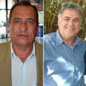 Ex-prefeito Tinoco ( esquerda) deixou rombo milionário para o prefeito Zé Reis