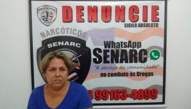 """Regina Maria Goiabeira Sousa, mais conhecida como """"vovó do tráfico"""""""