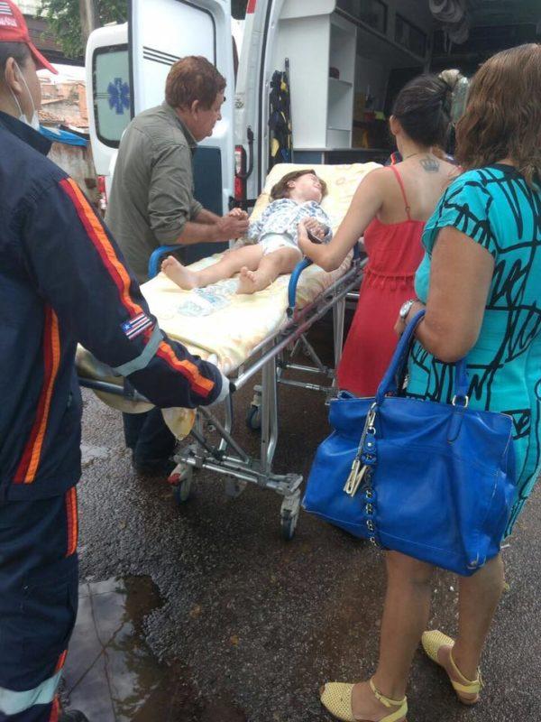 João lucas foi levado para tratamento em Recife