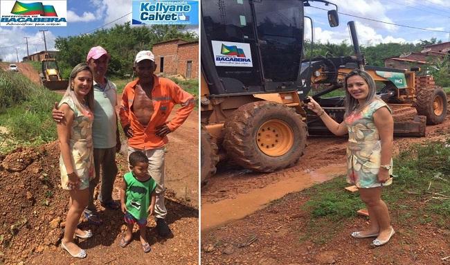 Vereadora Kellyane Calvet acompanhando as ações da prefeitura