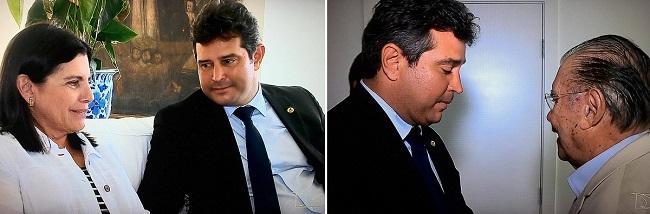 Ministro Maurício Quintella com Roseana e José Sarney