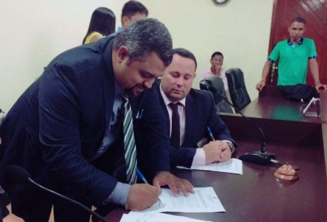 Novo presidente da Câmara, Elizeu de Tantan