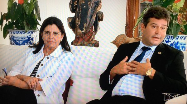 Roseana com o ministro Maurício Quintella em sua residência