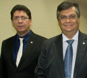Secretário Jefferson Portela e o governador Flávio Dino