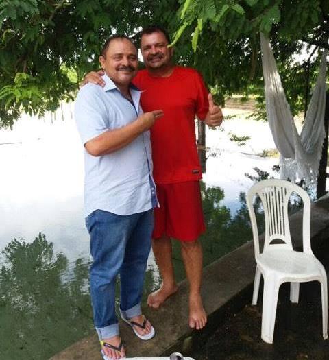 Waldir Maranhão na residência de Camilo Figueiredo