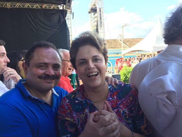 Waldir Maranhão e a ex-presidente Dilma Rousseff