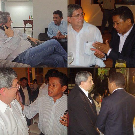 Washington Luiz em vários momentos com Luís Amovelar
