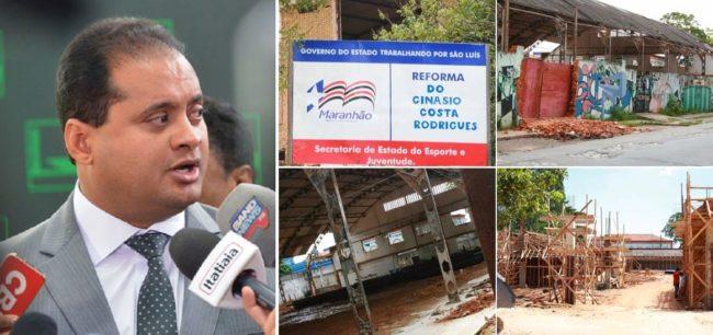 Weverton Rocha deixou o Ginásio Costa Rodrigues inacabável