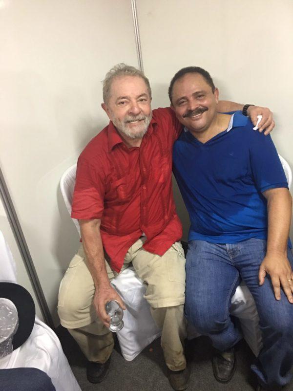 Ex-presidente Lula e o deputado Waldir Maranhão na Paraíba