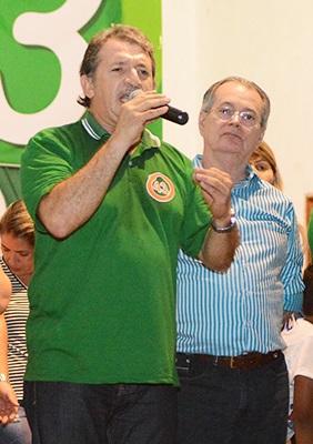 Deputado Magno Bacelar e o deputado Levi Pontes