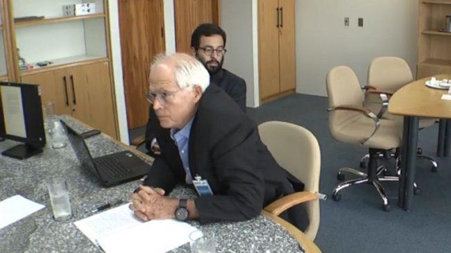 Ex-executivo da Odebrecht, José de Carvalho Filho, delatando Flávio Dino