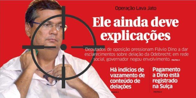 Flávio na mira da Lava Jato (crédito capa do Jornal O Estado)