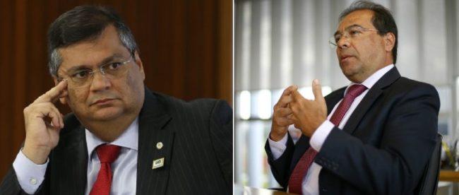 Governador Flávio Dino e o irmão vice-procurador-geral eleitoral, Nicolao Dino