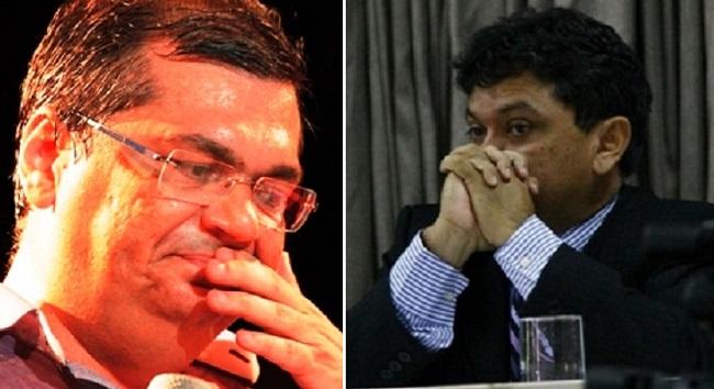 Governador Flávio Dino e seu secretário Márcio Jerry em clima tenso