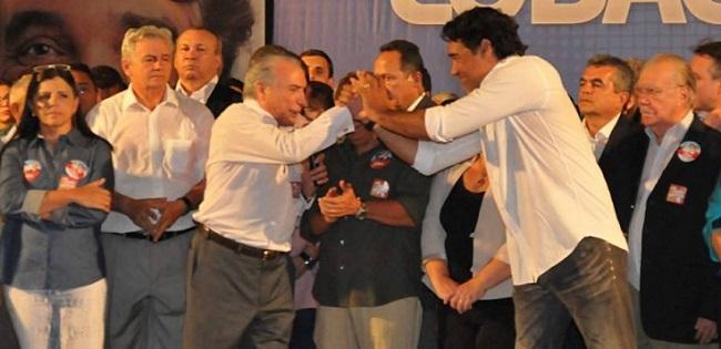 Michel Temer na época da candidatura de Edinho Lobão ao Governo do Maranhão
