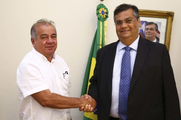 Prefeito Fufuca e o governador Flávio Dino