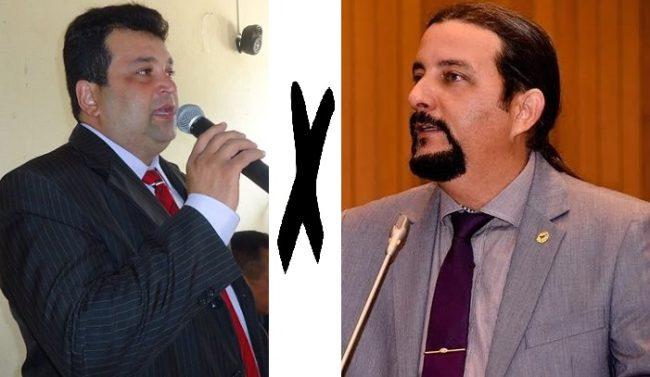 Secretário Adelmo Soares e o deputado Júnior Verde