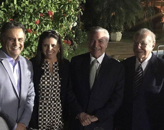 Senador Aécio Neves, Roseana, Temer e Sarney