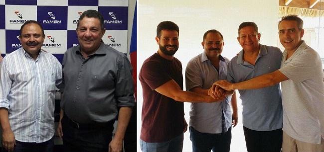 Waldir e Tema; Gil Cutrim, Waldir, professor Dimas e Márcio Jardim