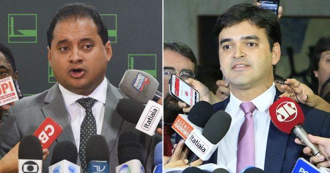 Deputados federais Weverton Rocha e Rubens Pereira Júnior