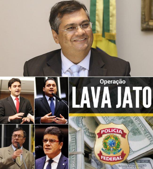 Flávio Dino e seus aliados Rubens Pereira Júnior, Weverton Rocha, Julião Amin e Deoclides Macedo