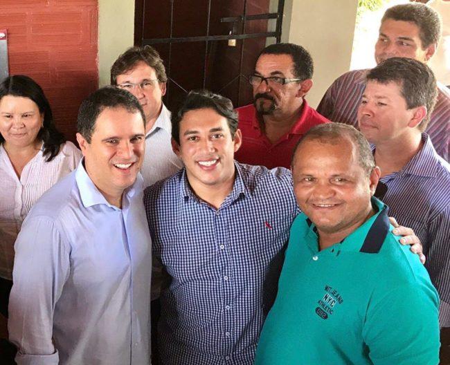 Prefeito Edivaldo ao lado do vereador Osmar Filho em São Luís